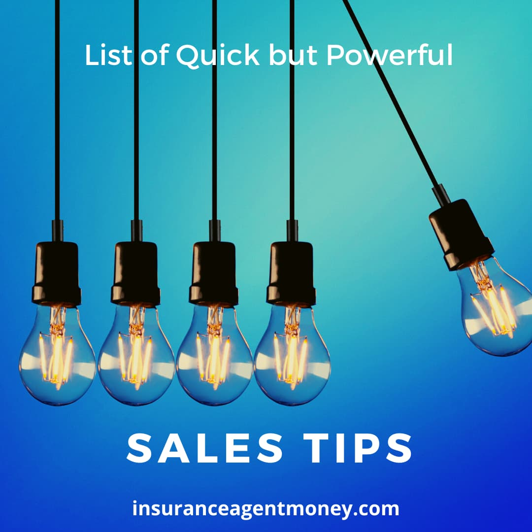 sales tips for insurance agents